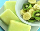 STORE WIDE SALE Banana Kiwi Delight Sugar Infussed for Kissably Soft Skin Soap