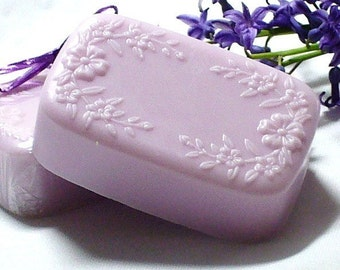 Soap - Lilac and Lavender Scent - Goats Milk Soap - Cherry Blossom Design - Handmade - Top Selling Soap