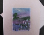 Needlefelted and Embroidered Greetings Card