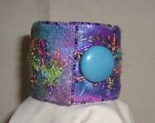 Magic Embroidered and Felted Cuff