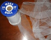 50 Yards White Tulle