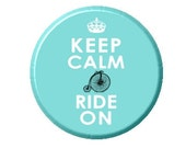 """Keep Calm and Ride On image 2.25"""" Mirror"""
