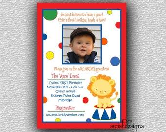 Circus Birthday  Invitation - Printable Party Invitations -  5x7