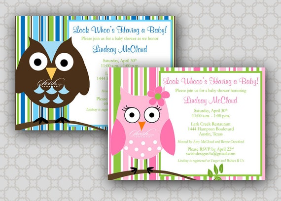 Owl baby shower invitation look whoos having a baby owl invite il570xn filmwisefo