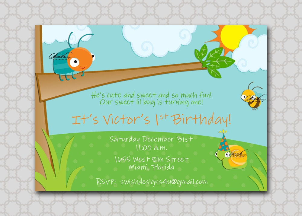 Printable Bug Party Invitations - All The Best Invitation In 2018