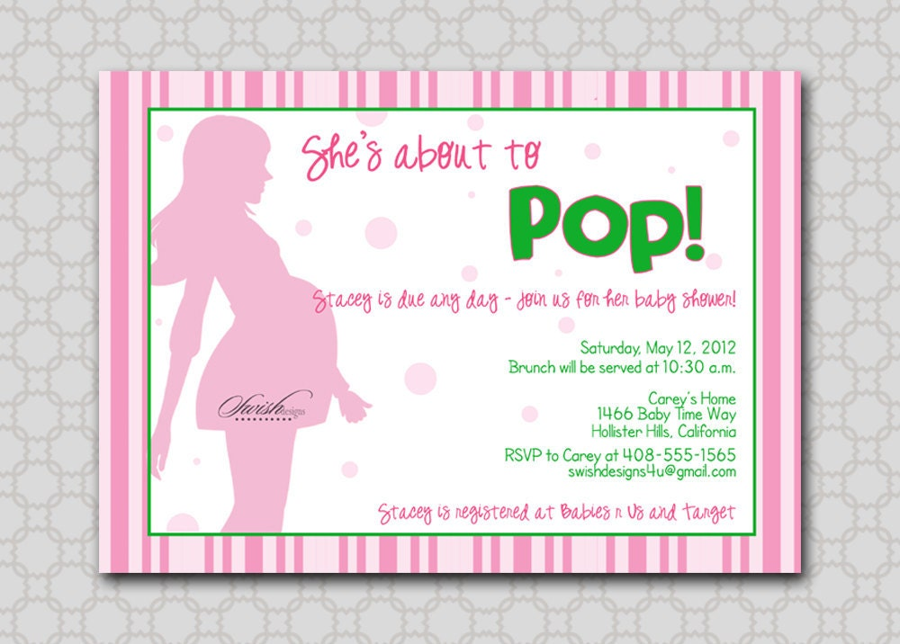 she 39 s about to pop baby digital shower by swishprintables on etsy