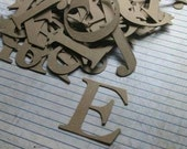 2 inch tall SERIF chipboard UPPERCASE alphabet ready to alter