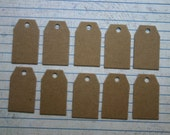 10 mini tag bare chipboard diecuts shipping tag style