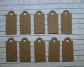 10 mini tag with rounded top bare chipboard die cuts diecuts