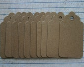 10 unfinished raw chipboard small sized scallop TAG diecuts 2 1/2 inches tall