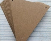 Bare Chipboard Triangle Pennant Diecuts Make a Banner 4 7/8 inch x 6 inch [choose quantity needed]