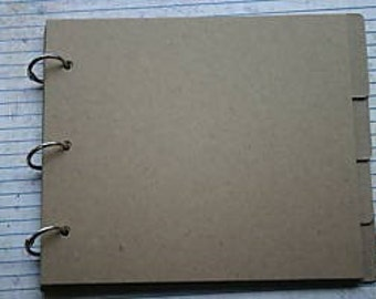 6 7/8 x 6 inch bare Chipboard die cut tabbed and non tabbed 9 page album