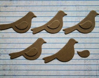 5 MINI Bird no.3 Bare Chipboard Diecuts Smaller size for cards and tags