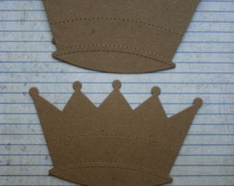 3 Large Bare chipboard die cuts Crown Diecuts