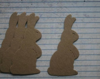 4 Bare chipboard die cuts Bunny Rabbit Diecuts