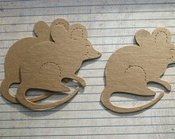 3 Bare Chipboard Mouse Diecuts
