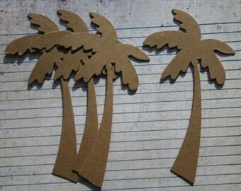 4 Bare chipboard die cuts Palm Tree Diecuts