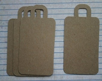 4 Bare chipboard Luggage Tag Style Die cuts