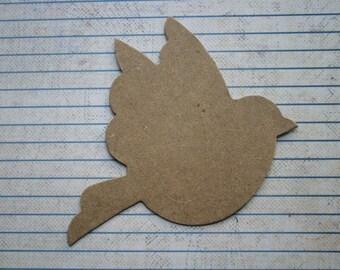 3 Bare chipboard medium flying bird diecuts