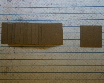 """12 Bare chipboard die cuts  Squares straight edges 1"""""""