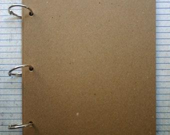 5 3/4 inch x 8 inch Bare Chipboard die cut Album 8pg w/bookrings