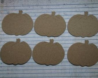 Halloween 6 Bare chipboard die cuts Pumpkin Medium Diecuts