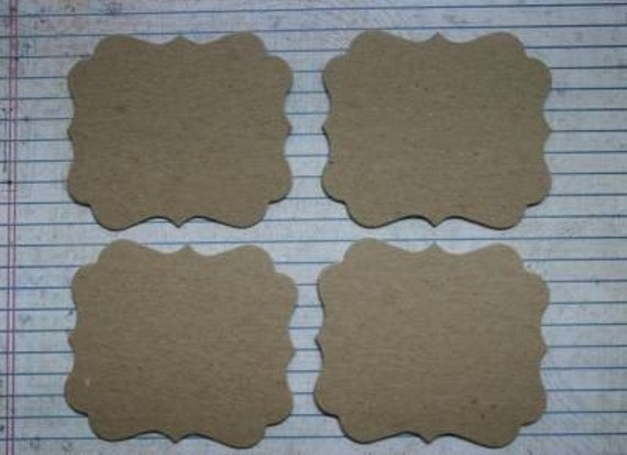 4 Bare Rectangle Bracket chipboard die cuts die cuts