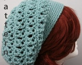 X-Stitch Slouch Hat Crochet Pattern - PDF File