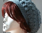 Bobbles Slouch Hat Crochet Pattern - PDF File