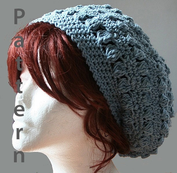 Bobbles Slouch Hat Crochet Pattern PDF File
