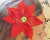 Christmas Hair Flower Clip