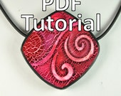 PDF Tutorial - Crackle Patterns on Polymer Clay Using Alcohol Inks
