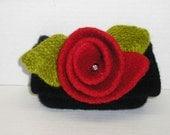 "Clutch Bag Knitting Patterns Felting Patterns for Purses Felting Patterns for Handbags ""In a Clutch"" free delivery via pdf"