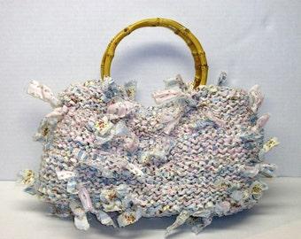 Handbag Knitting Pattern Knitting with Fabric Purse Knitting Patterns