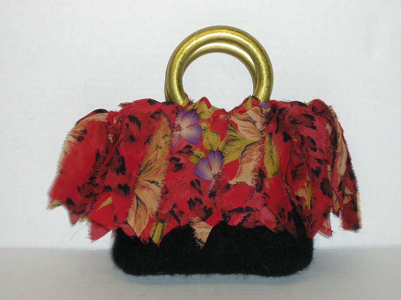 Knitting Bag Patterns Beginners : Fringe Bags Fringe Purses Fringe Beginner Knitting Patterns