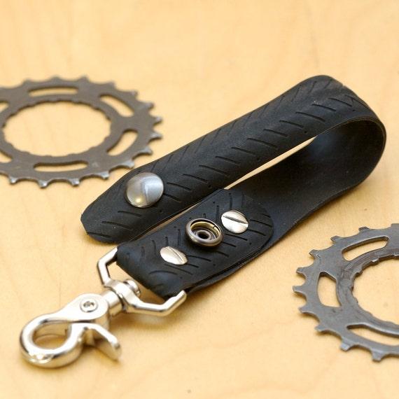 Bicycle Tire Keychain - Black