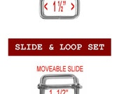 "20 SETS - 1 1/2"" - Slide and Loop SET, MOVEABLE Tri Bar, 1.5 Nickel Plate"