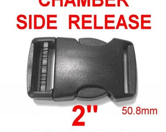 "4 BUCKLES - 2"" - Chamber SIDE RELEASE, 50.8mm"