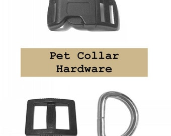 "10 SETS - 5/8"" - Dog Collar Kits, 5/8 inch, WIDE Mouth, 30 Pieces, 15.8mm"