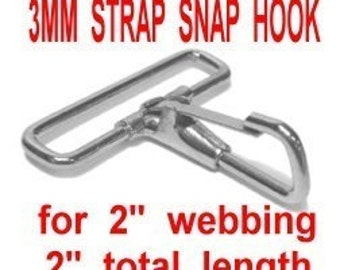 """20 PIECES - 2"""" - Strap Snap HOOK, 2 inch, Purse Clip, Nickel Plated, for 2 inch wide webbing"""
