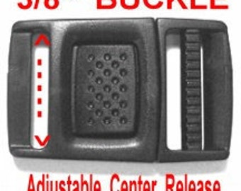 "20 BUCKLES - 3/8"" - Adjustable Center Release, LOW Profile, Plastic"