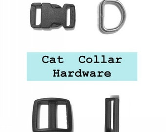 "20 SETS - 3/8"" - Cat Collar Kits, 3/8 inch, 80 Pieces, 9.5mm, with break away buckles"