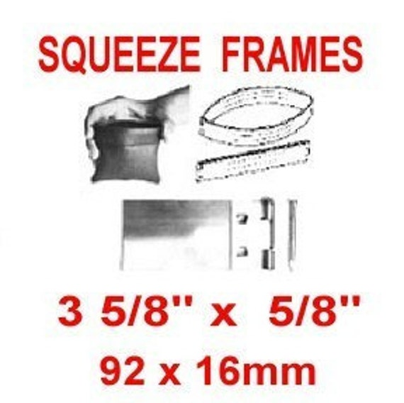 25 Pouch Frame SETS - SQUEEZE FRAME, 3 5/8 inch, Coin Purse, Eye Glass Case, 92mm