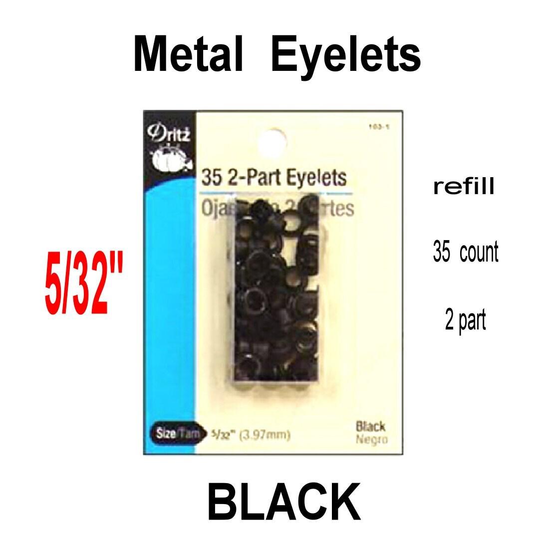 Dritz Eyelet Refill 5/32 BLACK 35 2 Part Eyelets