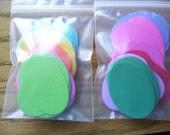 DESTASH Extra Large Ovals Bold Brights Cardstock - 120 Pieces