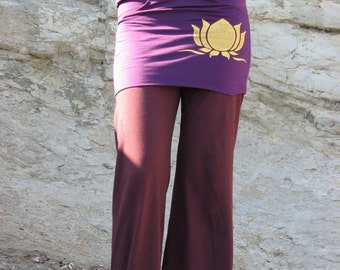Women yoga Pants, Herbandevi, Yoga Pants With Pockets,organic clothing,hula hoop,bellydance,pockets,organic clothing,boho,plus size,lotus