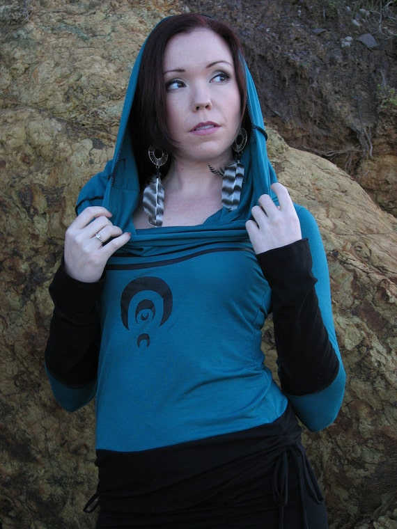 Amulet Cowl Hoodie, plus size and petite sizes