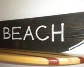 Wood sign brown-BEACH