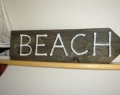 wood sign old gray-BEACH