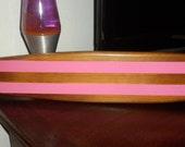 surfboard-cedar w/pink stripes